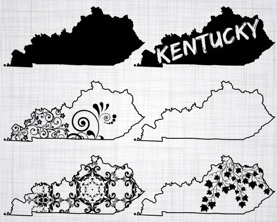 Kentucky Svg Bundle Kentucky Svg State Clipart Kentucky Cut Etsy