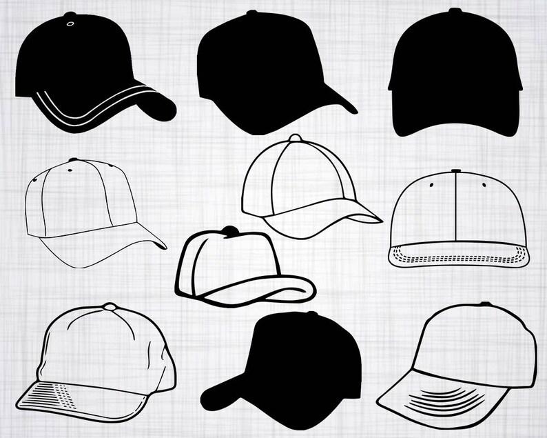 4de8ba04e7f Baseball Cap SVG Bundle Baseball Cap SVG Clipart Cut Files