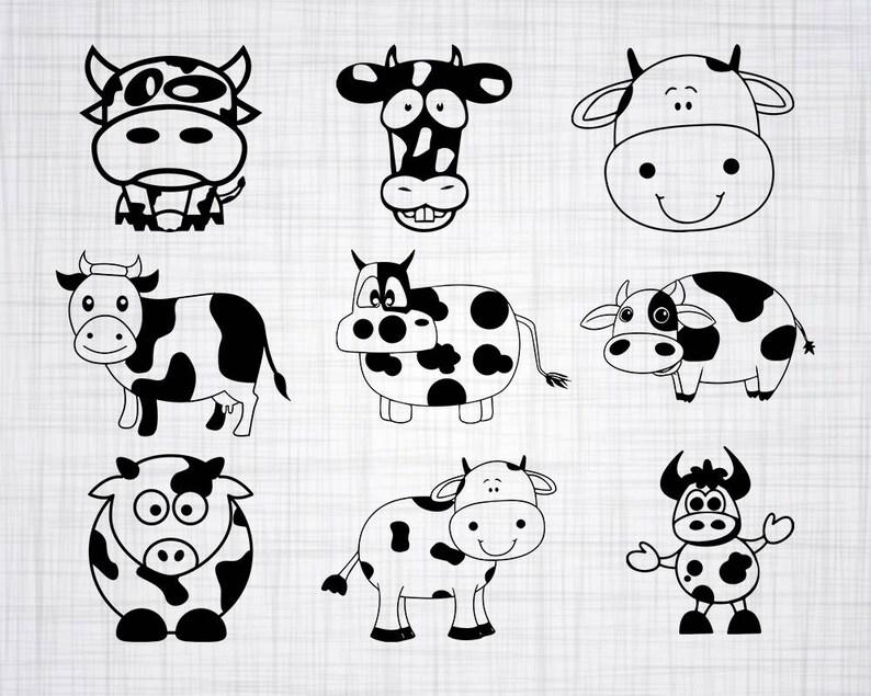 Cute Cow Svg Bundle Cute Cow Svg Cute Cow Clipart Cut Files