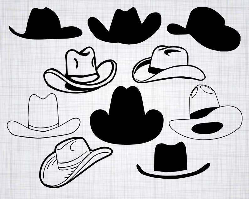 d0b25d0c066ec Cowboy Hat SVG Bundle Cowboy Hat SVG Cowboy Hat Clipart Cut