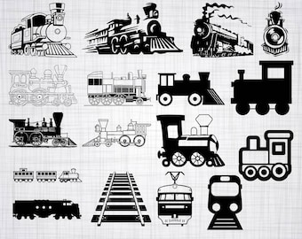 Train SVG Bundle, Train SVG, Choo Choo Train Svg, Train Clipart, Cut Files For Silhouette, Files for Cricut, Train Vector, Dxf, Png, Decal