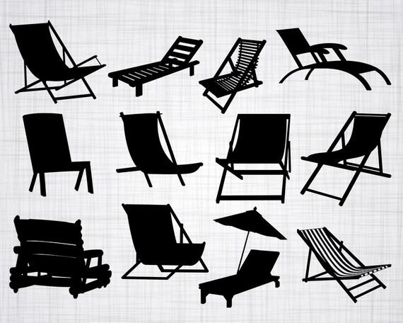 Beach Chair Svg Bundle Beach Chair Svg Beach Chair Clipart Etsy