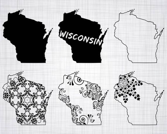 Wisconsin Svg Bundle Wisconsin Svg State Clipart Wisconsin Etsy