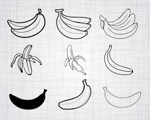 Banana Clipart Image Banana Vector Banana Silhouette Svg Banana Cutting Image Fruit Digital Clip Art Banana Svg Cutting File Fruit Svg