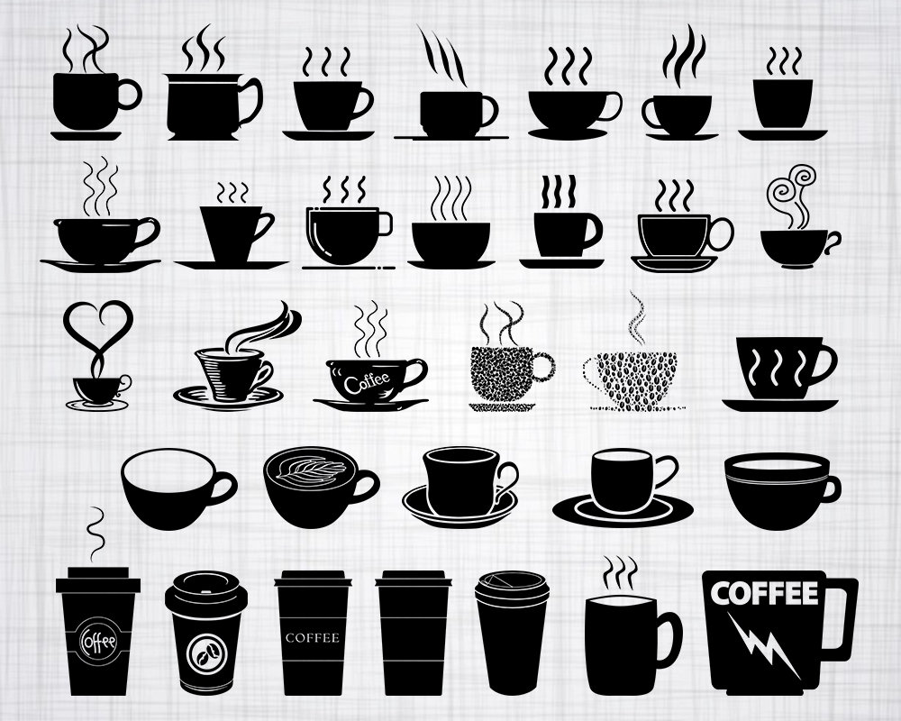 Download Coffee Cup SVG Bundle Coffee Cup SVG Coffee Cup Clipart ...