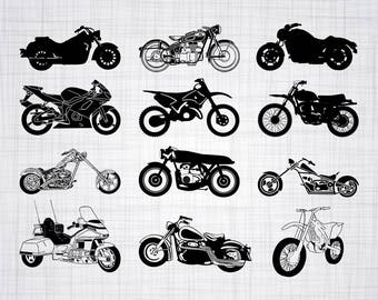 Motorcycle SVG Bundle, Motorcycle SVG, Motorcycle Clipart, Cut Files For Silhouette, Files for Cricut, Motorcycle Vector, Svg, Png, Decal