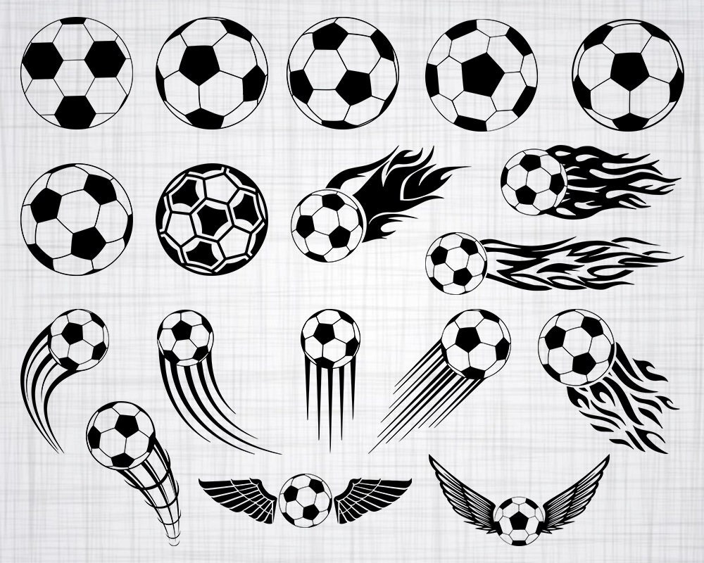 soccer ball svg clipart silhouette cricut bundle decal eps etsy name file
