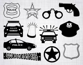 Police SVG Bundle, Police SVG, Police Clipart, Police Cut Files For Silhouette, Files for Cricut, Police Vector, Cops Svg, Dxf, Png, Decal