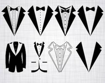 Tuxedo SVG Bundle, Tuxedo SVG, Tuxedo Clipart, Tuxedo Cut Files For Silhouette, Files for Cricut, Tuxedo Vector, Svg, Dxf, Png, Eps, Decal