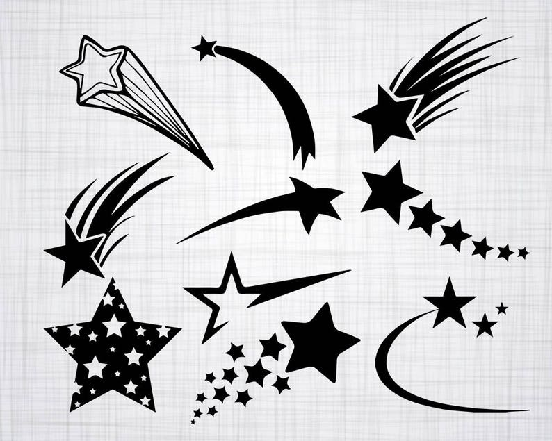 Shooting Star SVG Bundle, Shooting Star SVG, Shooting Star Clipart, Cut  Files For Silhouette, Files for Cricut, Vector, Svg, Dxf, Png,
