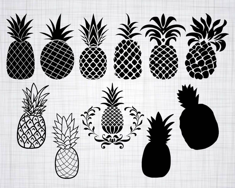 Pineapple SVG Bundle Pineapple SVG Pineapple Clipart