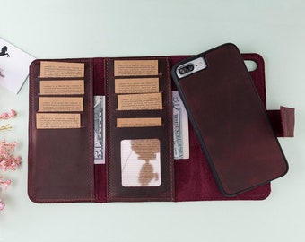 timeless design 99e8e 449ef Iphone 8 plus wallet   Etsy