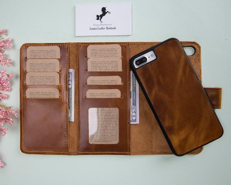quality design d11d7 b9ac5 iPhone 8 Plus Case, iPhone 8 Plus Wallet, Case For iPhone 8 Plus, Magnetic  Detachable iPhone 8 Plus Leather Wallet Case, iPhone Leather Case