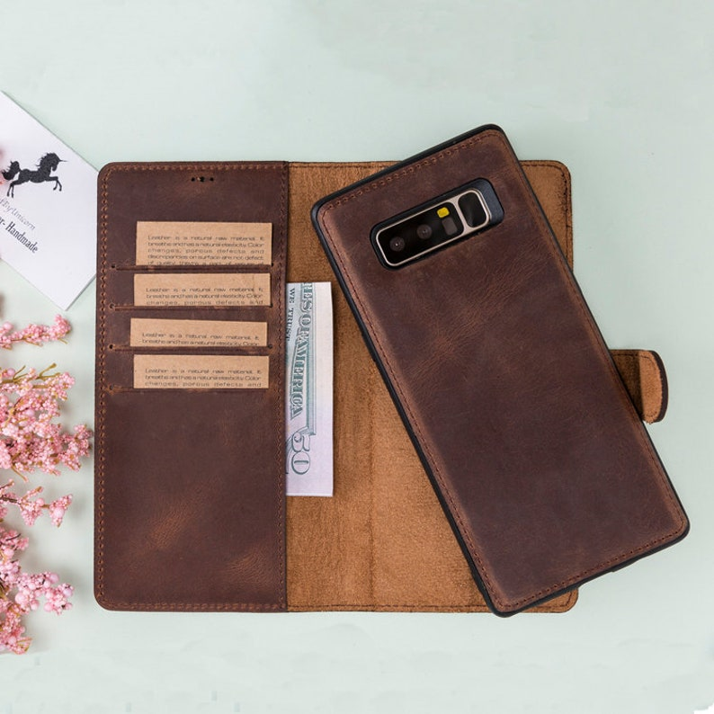 check out 152ae c6480 Samsung Note 8 Case, Samsung Note 8 Wallet Case, Magnetic Detachable Full  Grain Leather Samsung Galaxy Note 8 Case Wallet, Case For Note 8