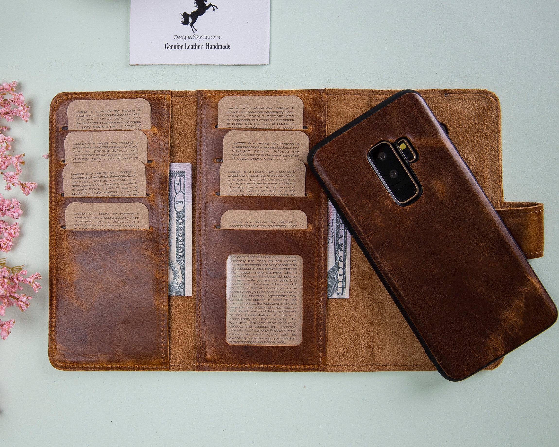 db51967b097a Samsung Galaxy S9 Plus Tan Leather Case, Galaxy S9 Case, Case For Galaxy  S9, Case For S9 Plus, Leather S9 Plus Wallet Case, Galaxy S9 Wallet