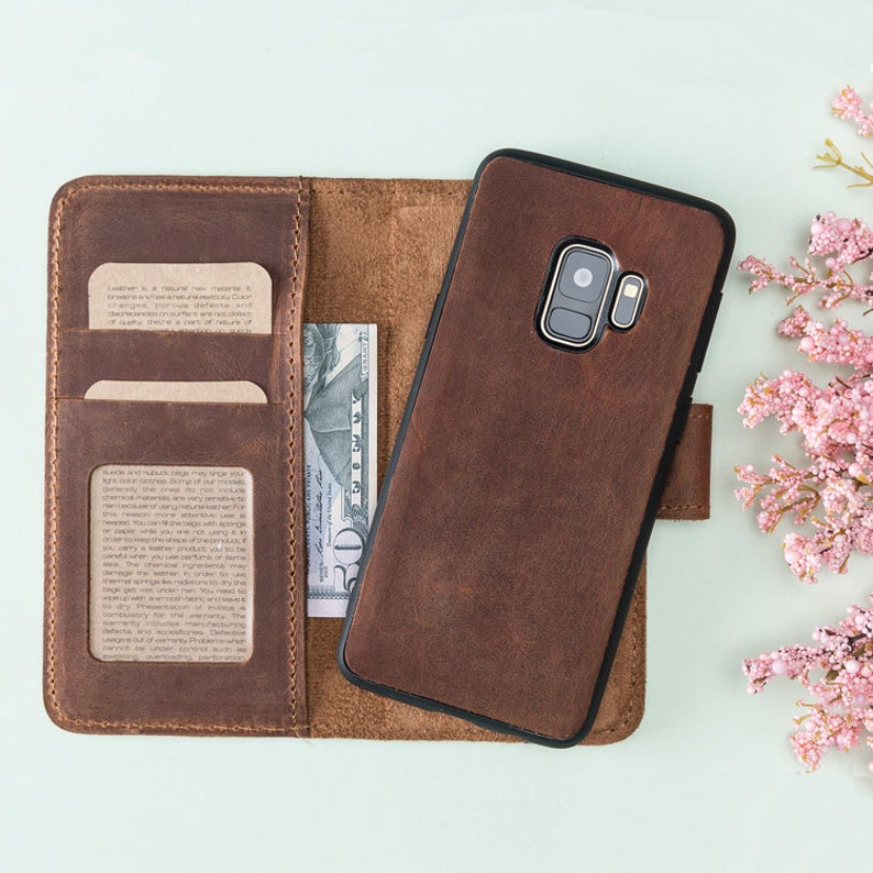 the latest 48106 9f7a1 Galaxy S9 Plus Wallet Case, Galaxy S9 Plus Case, Leather S9 Plus Case,  Samsung Galaxy S9 Plus Case, Samsung S9 Plus Wallet, S9 Plus Case