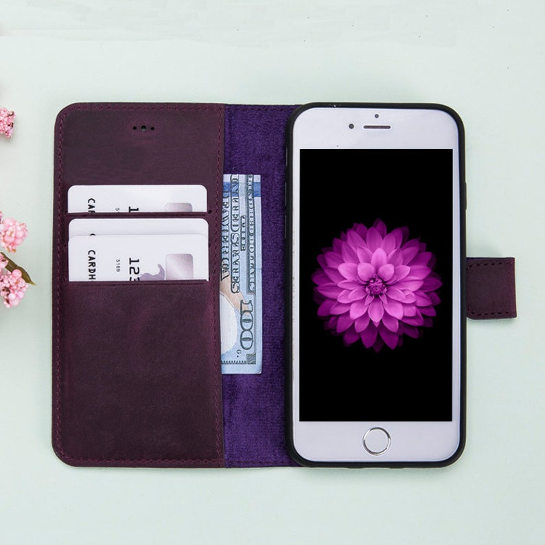 leather iphone 8 case purple