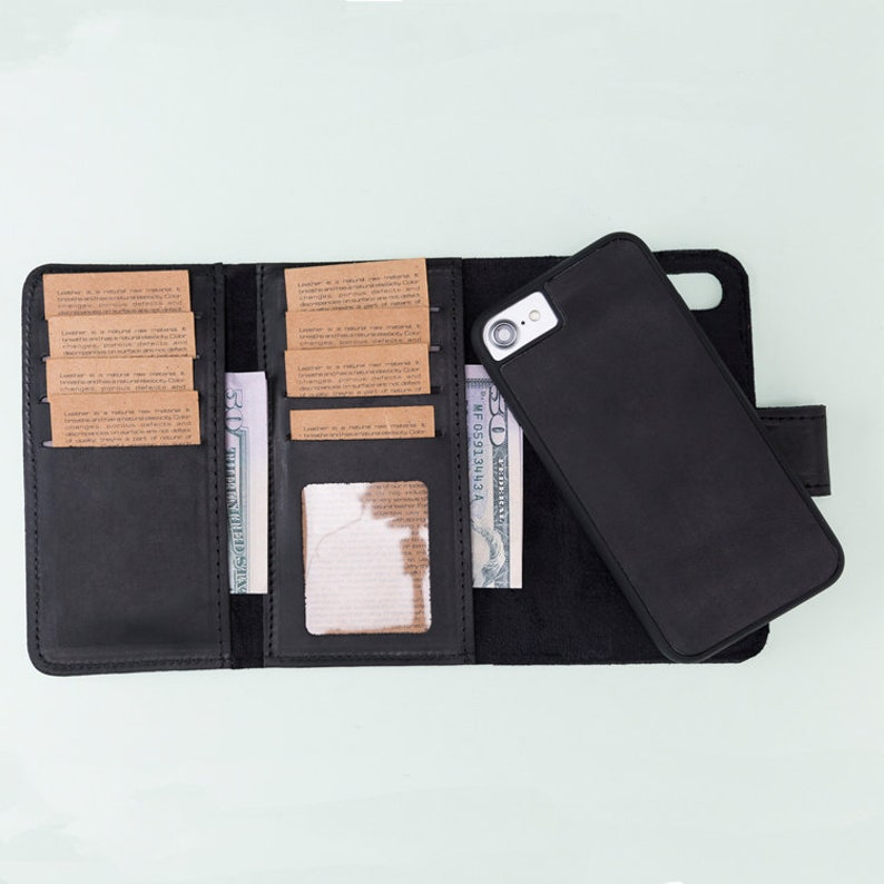 online retailer 2e060 9fe95 iPhone 8 Black Leather Case, iPhone 8 Case, iPhone 8 Wallet, iPhone 8  Wallet Case, Leather iPhone 8 Wallet, Mens Wallet, Gift For Him, Gift