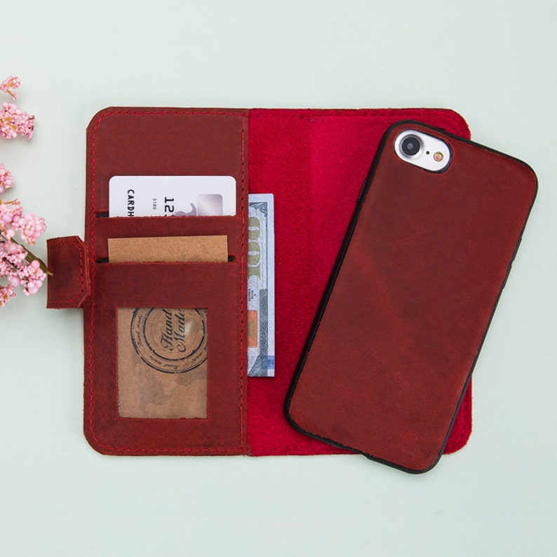 info for b01d8 a4e40 iPhone 5 Leather Case, Leather iPhone 5S Wallet, iPhone Se Magnetic  Detachable Leather Case Wallet, iPhone Se Case, iPhone 5S Wallet, Gift