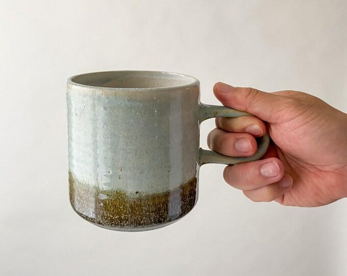 Featured listing image: 16 oz. Rustic Beach Blue Mug Reactive Glaze