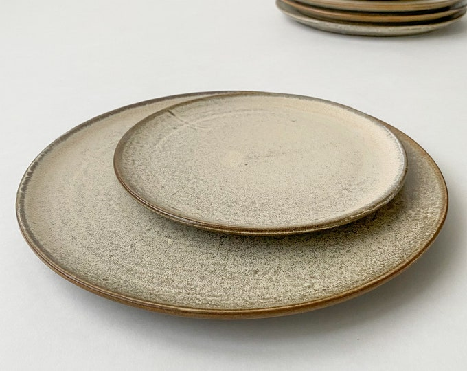 Featured listing image: Soft Cream Dinnerware Plates, Two Sizes Sold Separately, (Set of 4 Plates)
