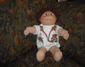 Vintage Cabbage Patch Kids Doll Named Xavier 1984