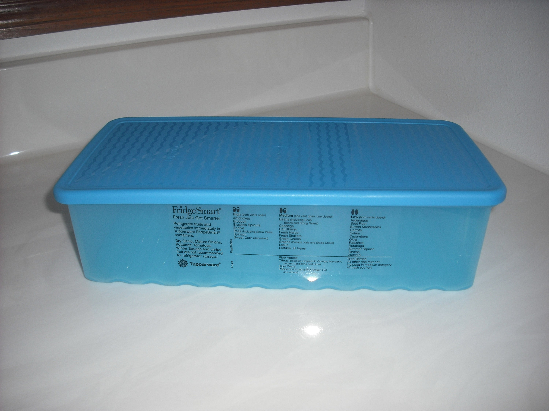 Tupperware Fridgesmart Large Blue Excellent Condition Etsy Medium Summer Fresh