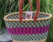 Bolga Basket Double Handled and Oval Fair Trade