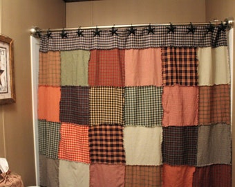 Primitive Rag Shower Curtain