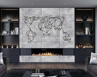 World map metal wall art etsy gumiabroncs Image collections