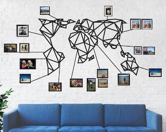 Map Of World Wall Art.World Map Wall Art Etsy
