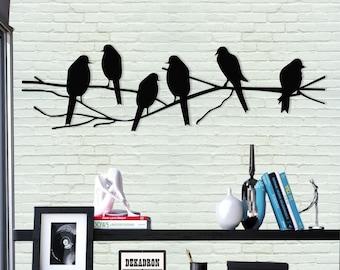 Muurdecoratie Buiten Metaal.Metalen Vogel Kunst Aan De Muur Etsy