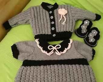 whole dress + vest + sandal size 0 to 3 months