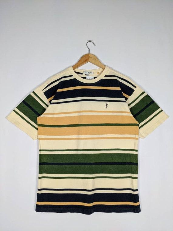 Vintage 90s Yves Saint Laurent Striped Smallpony D