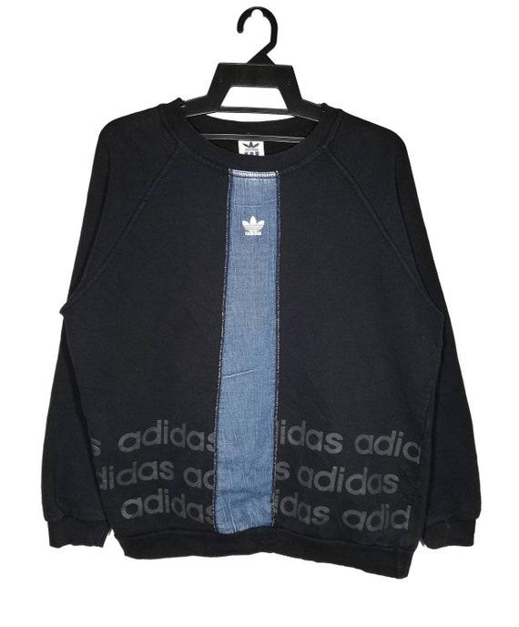 Vintage Adidas Trefoil Sweatshirt Adidas Stripe Cr