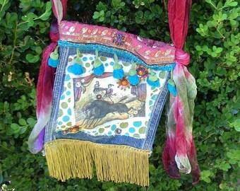 Gypsy Circus Handmade Shoulder Purse OOAK Bohemian Bag