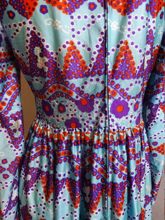 1970's Psychedelic Baby Doll Mini Dress - image 4