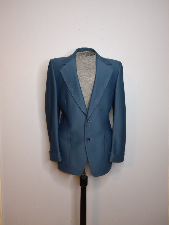 Men's 70's-80's Blue Suit Jacket