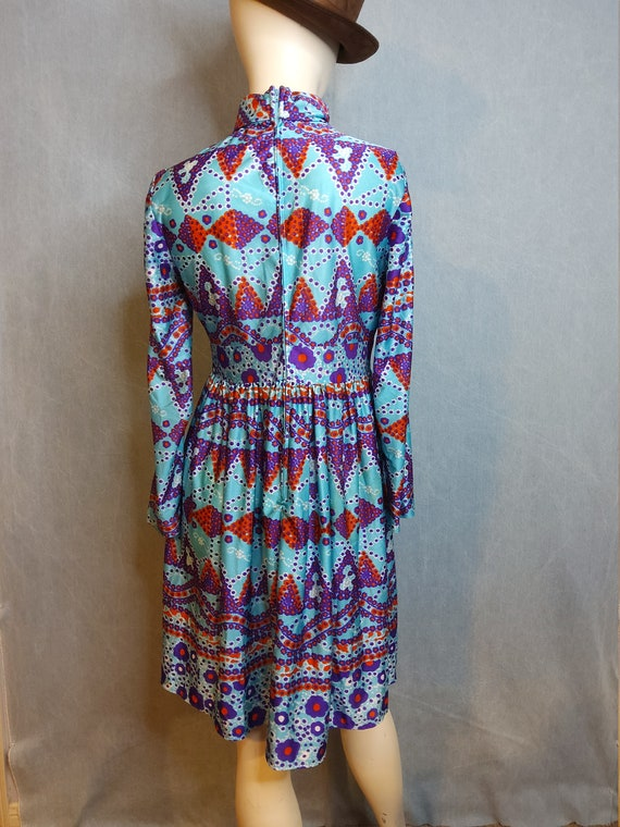 1970's Psychedelic Baby Doll Mini Dress - image 5