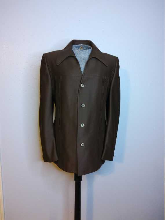 Men's Vintage 70's Deep Brown Suit Jacket