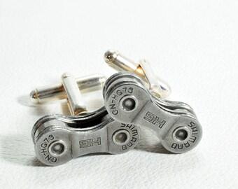 Bike Cufflinks, Shimano, Gifts for Cyclists, Bike Chain Cufflinks, Gift for Bike Riders, Biking Cufflinks, Cycling Gifts, Bicycle Cufflinks
