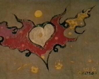 ภาพวาดนามธรรมบนcanvas FREE SPIRIT