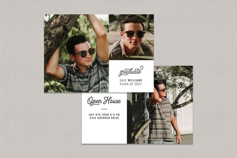 Modern Six 5x7 Graduation Cards for Photographers Graduation Card Templates Card Set
