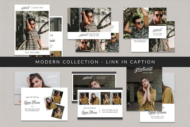 5x7 Graduation Card for Photographers Graduation Card Template Card A Modern