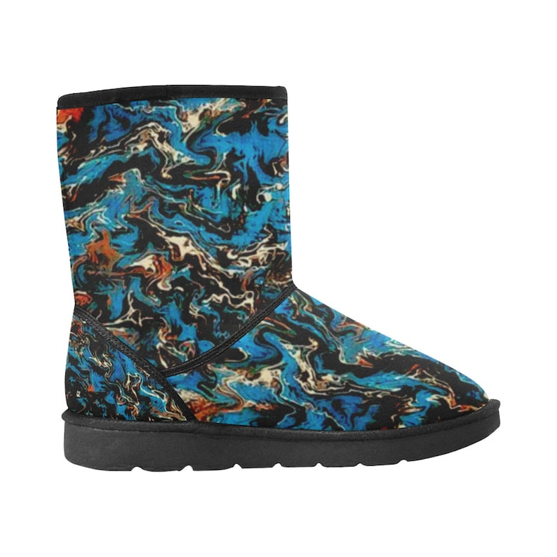 One of a Kind Women/'s Abstract Art Boots