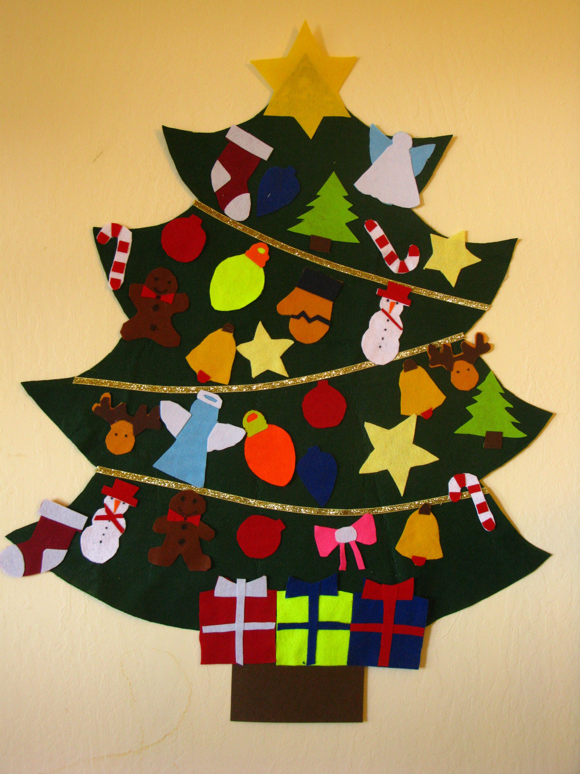 Felt Christmas Tree Ornaments for Kids only the ornaments   Etsy
