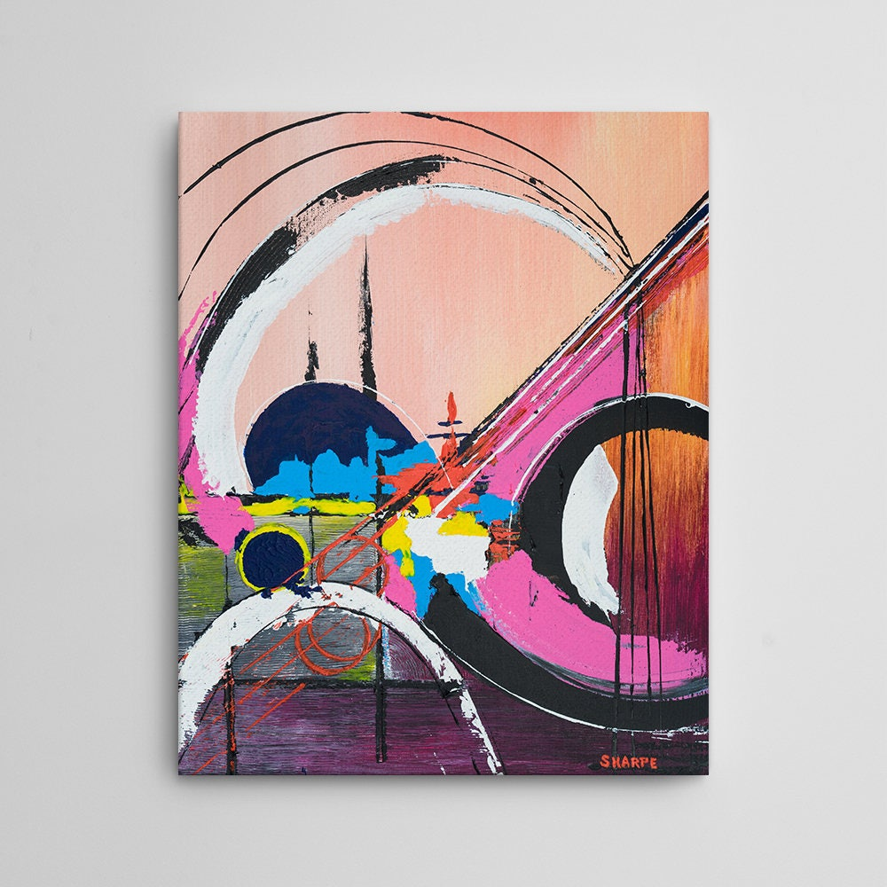 Tatooine canvas art print acrylic painting style abstract art star wars art funky painting portrait vertical museum quality 16x20