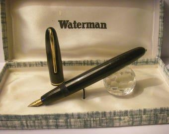 Restored: Waterman's Vintage France Fountain Pen 1950/60 Nib original 18kt gold