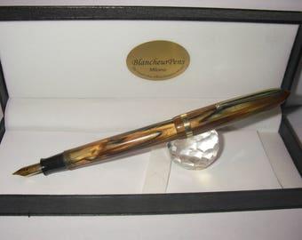 ASTURA 108 Fountain pen italiana 1935/40 SAFIS Torino - button Filler - Nib M