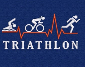 Towel embroidered triathlon female and name big